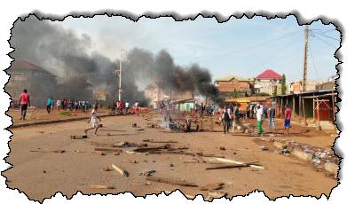 صورة أسفرت أعمال عنف بعد الانتخابات في غينيا عن مقتل عشرة أشخاص في غينيا