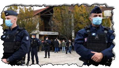 صورة ألقت الشرطة القبض على تسعة من رجالها بعد قطع رؤوسهم في ضواحي باريس الفرنسية