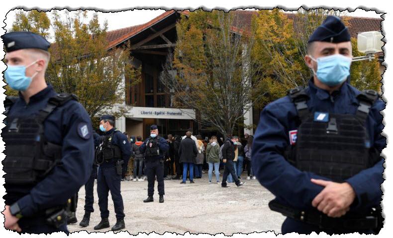 ألقت الشرطة القبض على تسعة من رجالها بعد قطع رؤوسهم في ضواحي باريس الفرنسية
