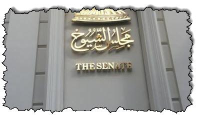 صورة قائمة التعيينات في مجلس الشيوخ قبل إعلانها الشرعي
