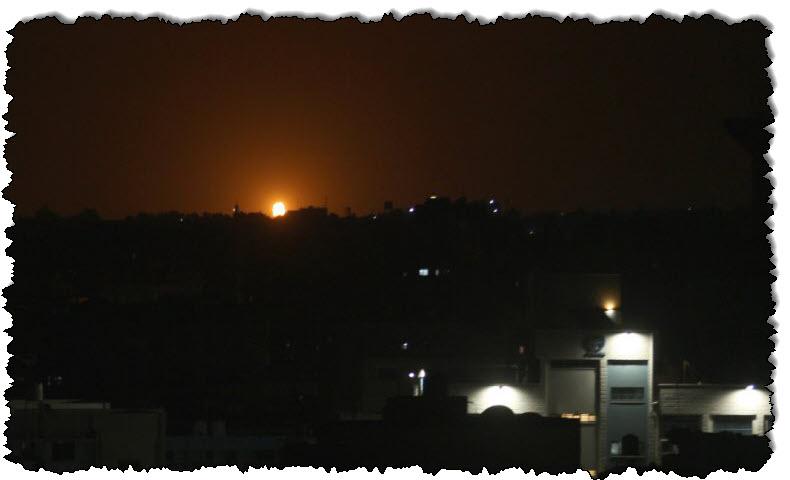 الطيران الحربي الإسرائيلي يهاجم مواقع لحماس في قطاع غزة بالشرق الأوسط