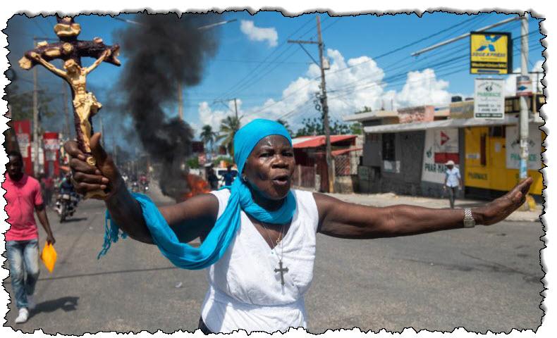 بالصور: الرصاص المطاطي والغاز المسيل للدموع في احتجاجات هاييتي | أمريكا اللاتينية