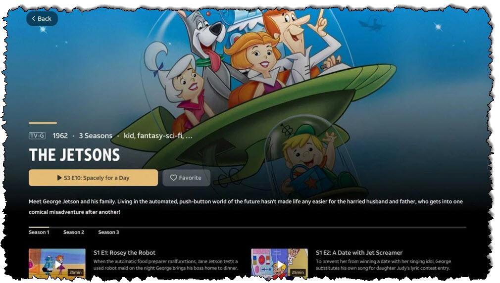 لقطة شاشة لتطبيق WarnerMedia Ride