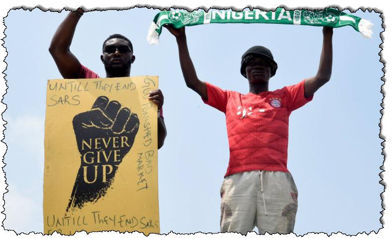 في الصورة: رغم حظر التجوال ، تستمر الاحتجاجات في نيجيريا | نيجيريا