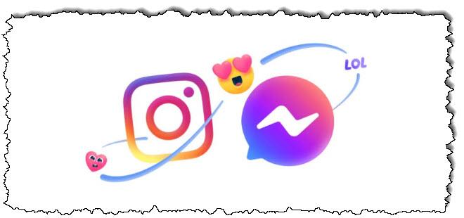 نافذة منبثقة على Instagram ، لقد تلقيت رسالة من Facebook.