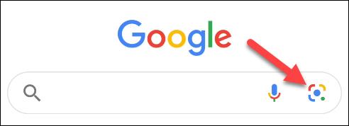 انقر على أيقونة العدسة في تطبيق جوجل