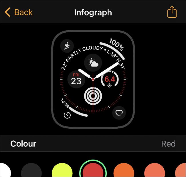 شارك وجوه Apple Watch