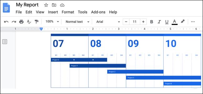 تضمين Google Drawing Google Doc