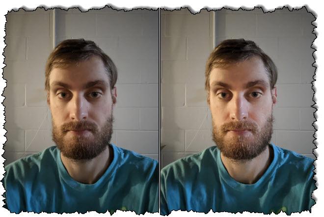 وظيفة الإضاءة الشخصية المستخدمة في صورة شخص ما في صور Google.