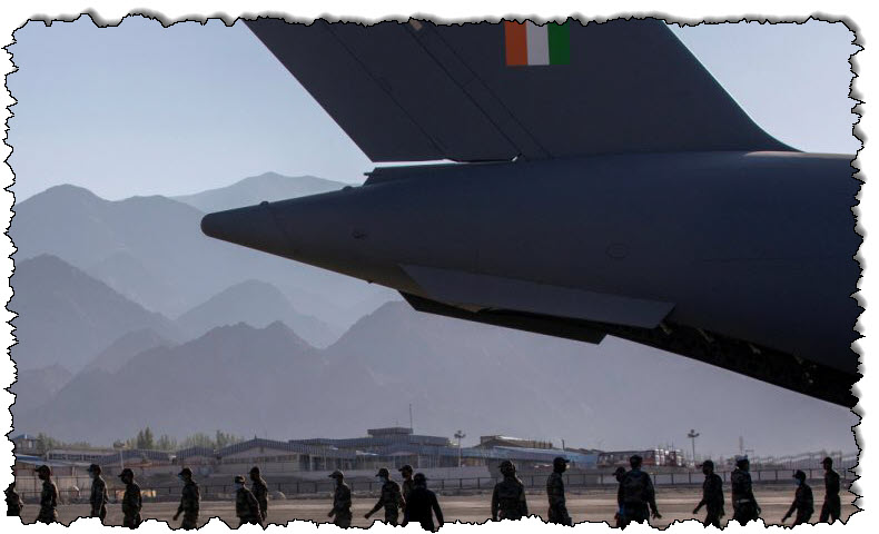 وتقول الصين إن الهند تعيد الجنود الذين عبروا حدود لاداخ إلى منطقة آسيا والمحيط الهادئ