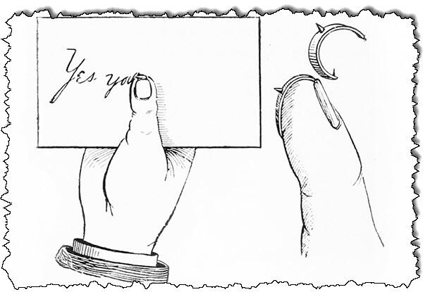 شكل 20 حامل قلم الإبهام. مقتطف من كتاب