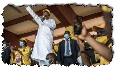 صورة غينيا تشارك في استطلاعات الرأي العام ، ويسعى الرئيس كونت إلى ولاية ثالثة في غينيا