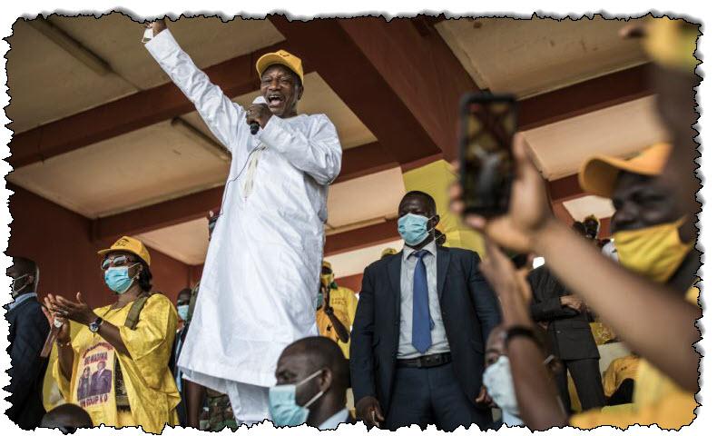 غينيا تشارك في استطلاعات الرأي العام ، ويسعى الرئيس كونت إلى ولاية ثالثة في غينيا