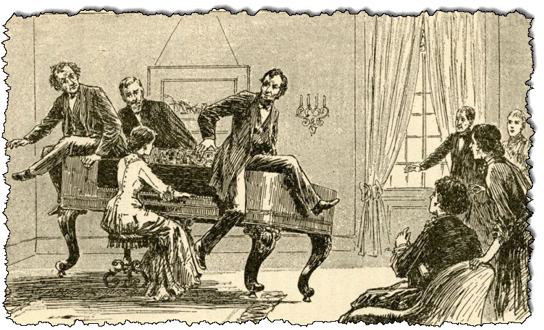 A Spiritualist medium raises a piano.
