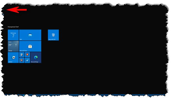 قائمة بدء ملء الشاشة في نظام التشغيل Windows 10
