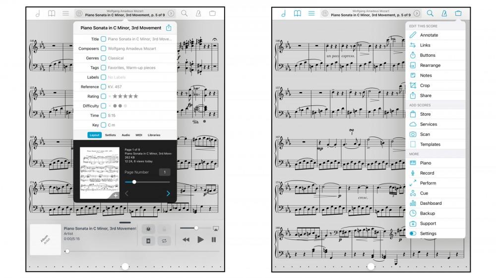 تطبيق ForScore لاستيراد وعرض المقطوعات الموسيقية