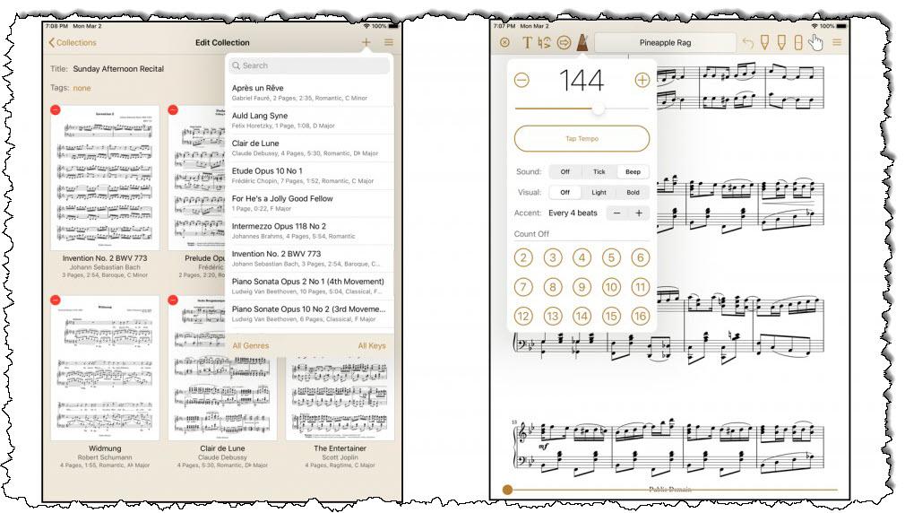 تطبيق موسيقى بلا أوراق لنظام iOS