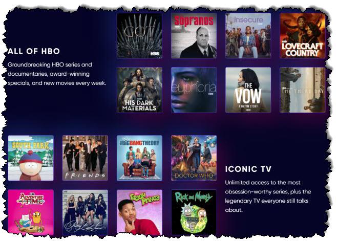 موقع ويب HBO Max