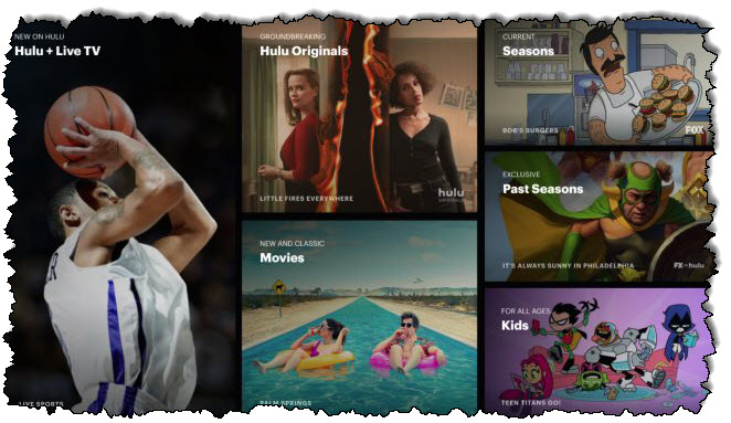 موقع ويب Hulu + Live TV