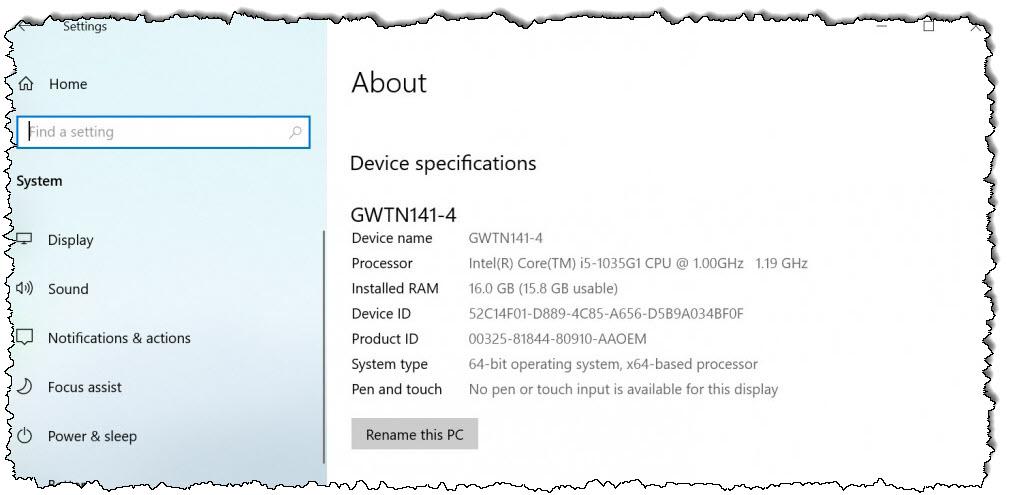 بوابة كمبيوتر محمول على الشاشة