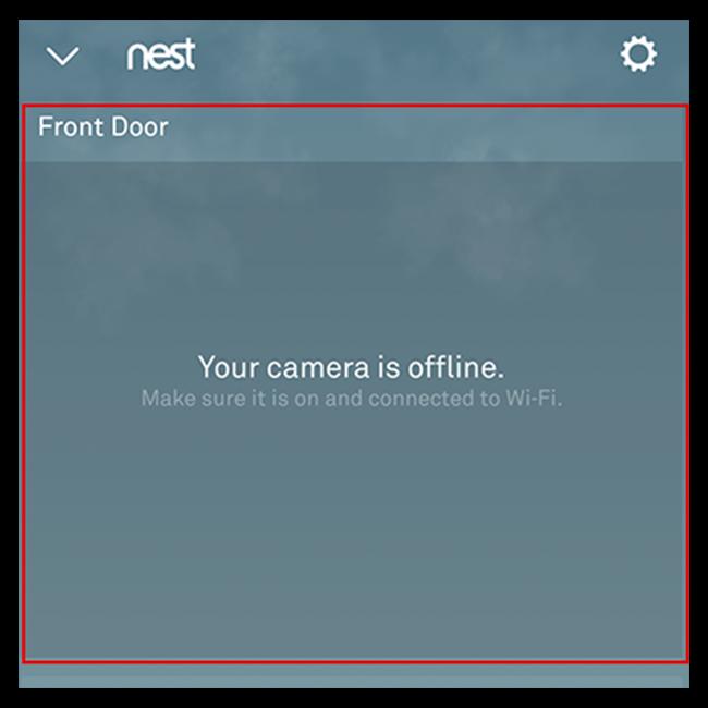 حدد جرس الباب Nest Hello من شاشة تطبيق Nest الرئيسية