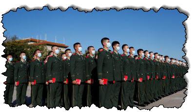 صورة خطاب شي جين بينغ أن الصين ليست خائفة من الحرب الكورية