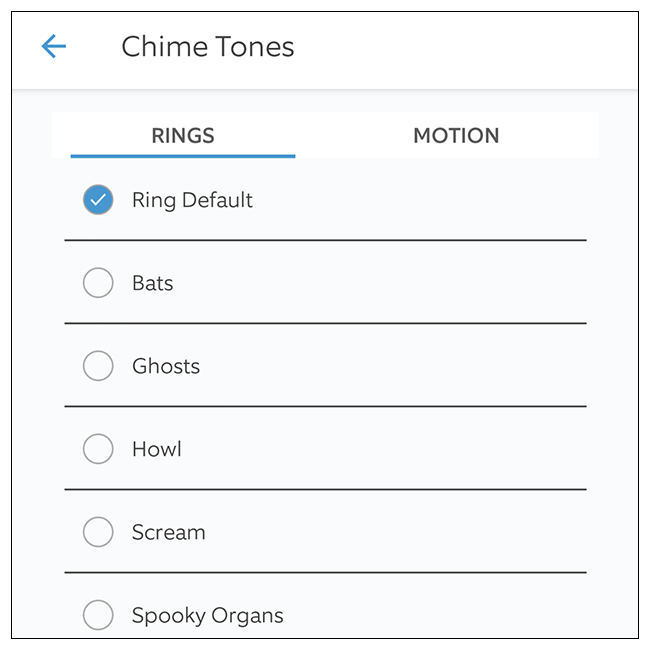اختر نغمة الرنين التي تريد استخدامها