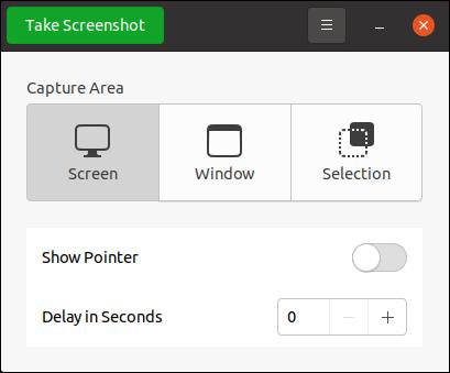برنامج لقطة شاشة على Ubuntu 20.10.