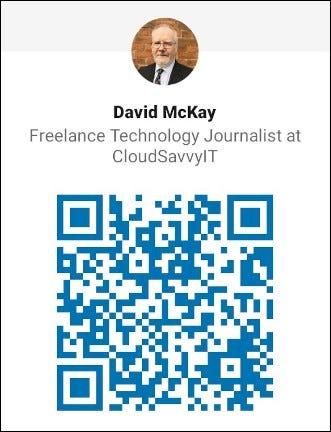 كود QR على LinkedIn الخاص بـ Dave McKay