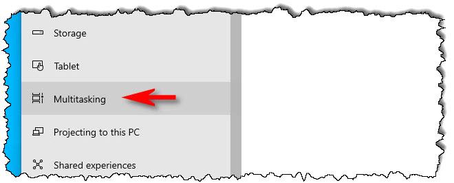 """في الإعدادات ، انتقل إلى النظام></noscript> تعدد المهام"""" العرض =""""650″ الارتفاع =""""256″ تفريغ =""""pagespeed.lazyLoadImages.loadIfVisibleAndMaybeBeacon (هذا) ،"""" خطأ =""""this.onerror = null؛ pagespeed.lazyLoadImages.loadIfVisibleAndMaybeBeacon (هذا) ؛""""/></p> <p>في إعدادات """"تعدد المهام"""" ، قم بالتمرير لأسفل حتى ترى """"الضغط على Alt + Tab يظهر"""" وانقر على القائمة المنسدلة أدناه.</p> <p><img loading="""