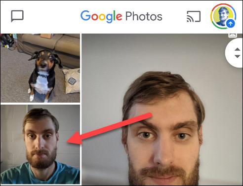 """حدد الصورة في """"صور جوجل."""""""