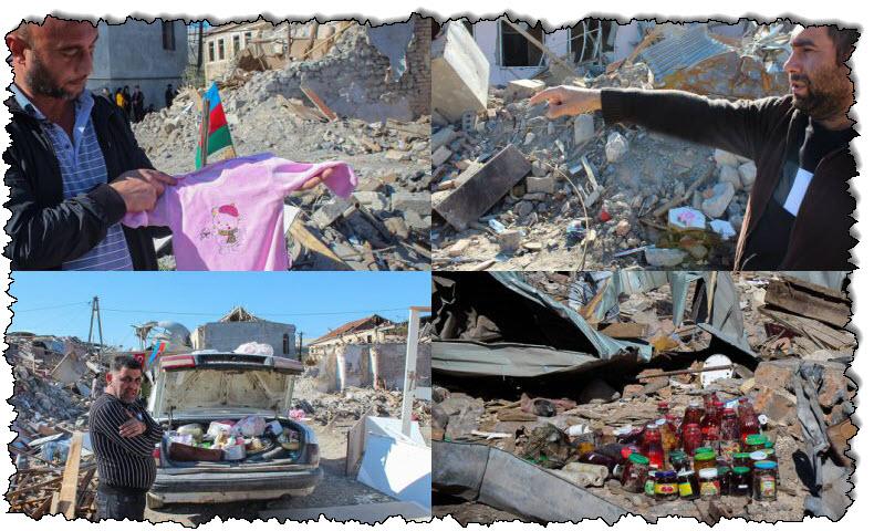الأذربيجانيون محاصرون بالركام حزنًا على خسارة أذربيجان