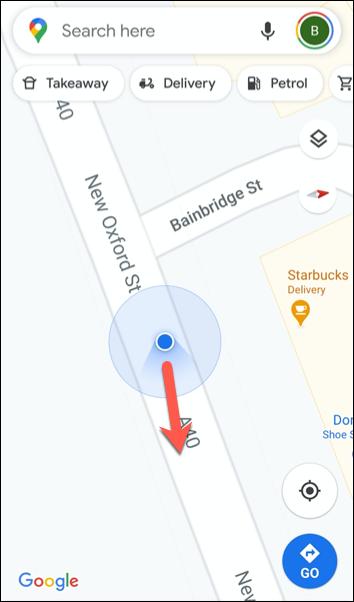 يشير الرمز الأحمر إلى أن رمز البوصلة يشير إلى الشمال.