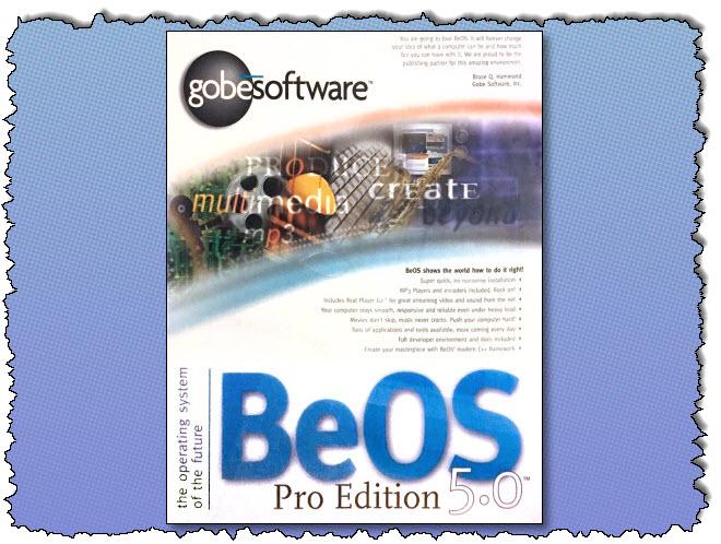 صندوق BeOS 5.0 Pro Edition.