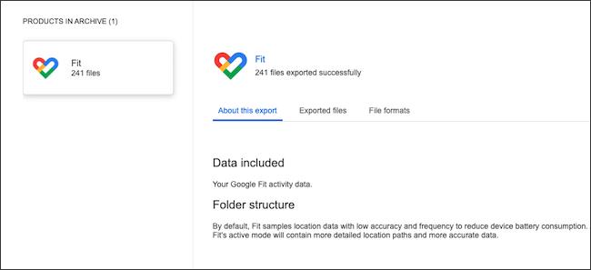 تصدير وعرض بيانات Google Fit