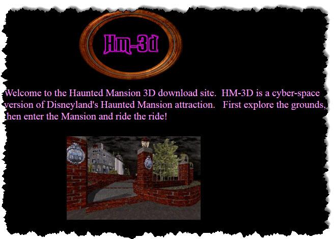 يحتوي موقع HM-3D على خريطة لقصر ديزني المسكون في GeoCities.