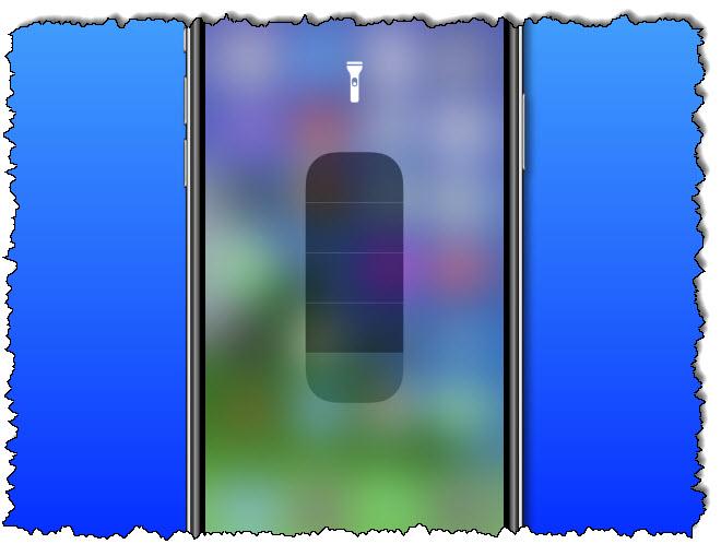 شريط تمرير تعديل مصباح يدوي iPhone
