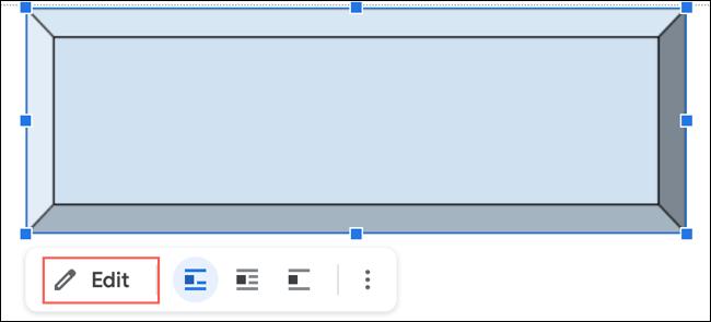 انقر فوق تحرير لتغيير الرسم الجديد في محرر مستندات Google