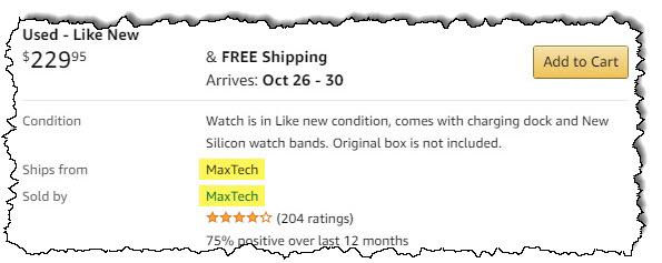قائمة بالساعات الذكية المستخدمة من أمازون مقدمة من MaxTech.