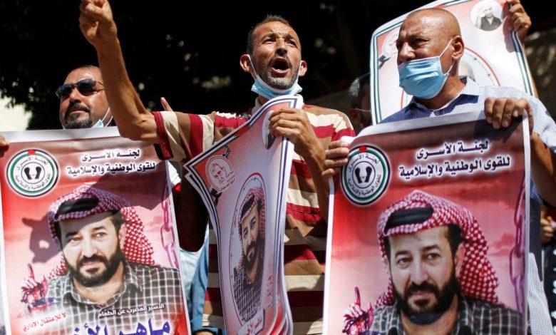 فلسطينيون تحتجزهم إسرائيل ينهون إضرابهم عن الطعام في الشرق الأوسط بعد 103 أيام
