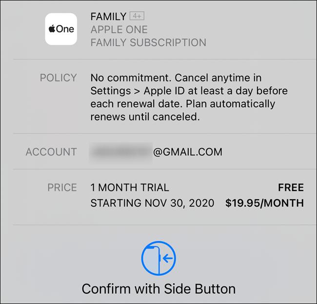 قم بتأكيد اشتراكك في Apple One