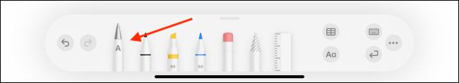 انقر فوق رمز رسومات الشعار المبتكرة في شريط أدوات القلم الرصاص