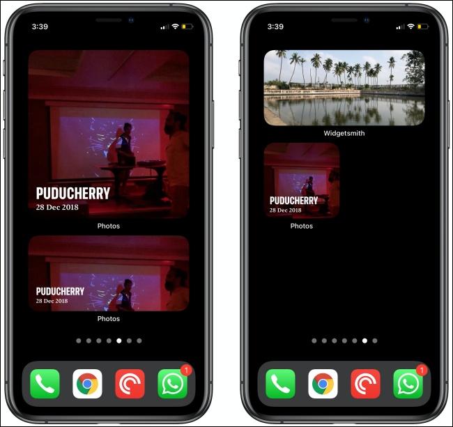 أدوات للصور على جهازي iPhone.