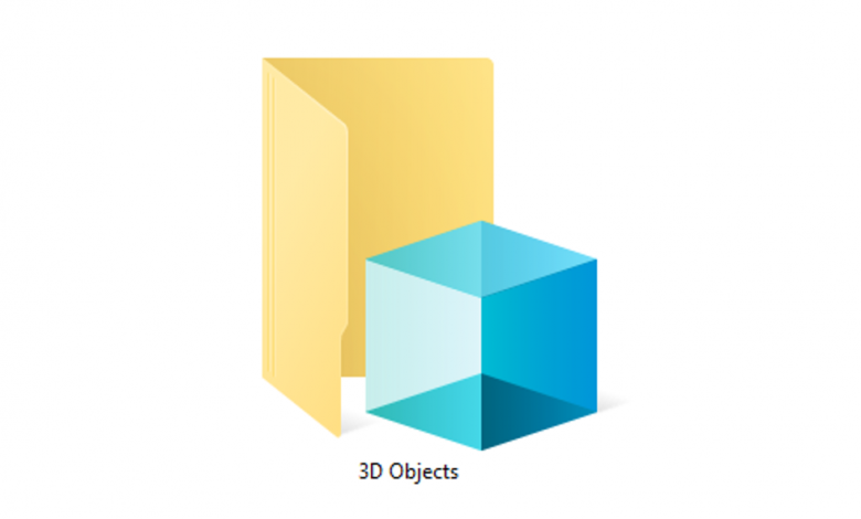 "تقوم Microsoft بحذف مجلد ""3D Objects"" في نظام التشغيل Windows 10"