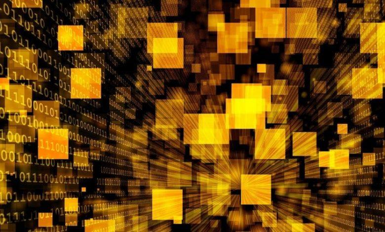 تُظهر الصورة المجردة مستطيلاً أصفر موسعًا