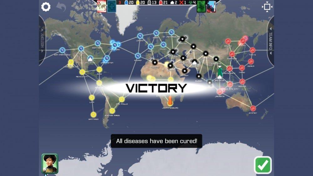 خريطة الانتصار للعبة علاج الجائحة