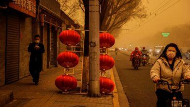 صورة جلبت العواصف الرملية تلوث بكين إلى أعلى مستوى من الأخبار البيئية