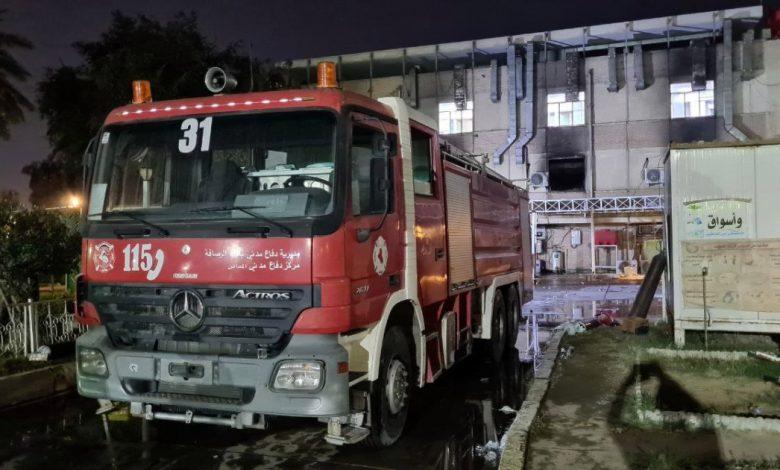 دموع النار في مستشفى كوفيد بغداد اخبار الشرق الاوسط