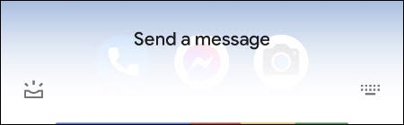 إرسال رسالة مع المساعد