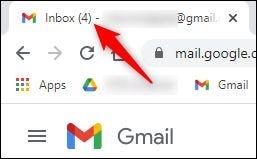 """هذا """"بريد إلكتروني غير مقروء"""" الرقم الموضح في البريد الوارد."""